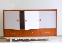 Tủ Vintage 3 cánh cửa & 3 hộc - Chất liệu MDF phủ veneer MDF veneer Sơn PU - KT 1200x470xH770 - Giá 4.000.000đ