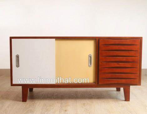 Tủ Vintage - Chất liêu MDF phủ veneer Sơn PU - KT 1200x450xH600 - Giá 5.290.000đ