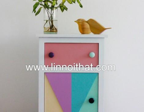 Tủ Vintage - Chất liệu MDF phủ veneer MDF veneer Sơn PU - KT 450x360xH715 - Giá 2.600.000đ