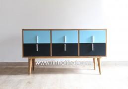 Tủ Vintage - Chất liệu MDF phủ veneer Sơn PU - KT 1400x400xH750 - Giá 5.100.000đ