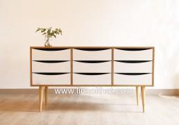 Tủ Vintage - Chất liệu MDF phủ veneer Sơn PU - KT 1400x400xH750 - Giá 5.600.000đ