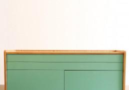 Tủ xanh ngọc- Chất liệu MDF veneer Sơn PU - KT 1200x430xH600 - Giá 5.200.000đ